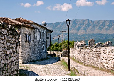 Street in the fortress of Berat