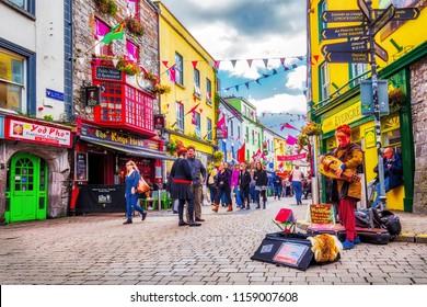 Street from Galway, Ireland, September 2017