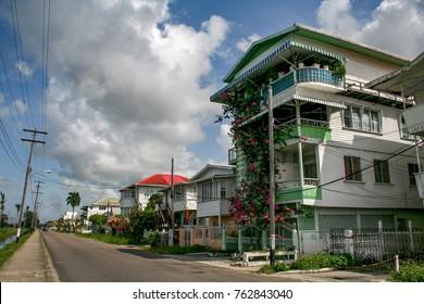 Street of Georgetown, Guyana.