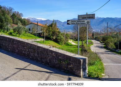 Street to the german war cemetery of the city of montecassino