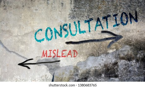Street Graffiti Consultation versus Mislead