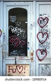 Street graffiti heart