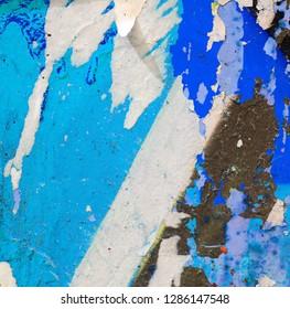 Street grunge peeling paint graffiti texture background backdrop surface wall abstract