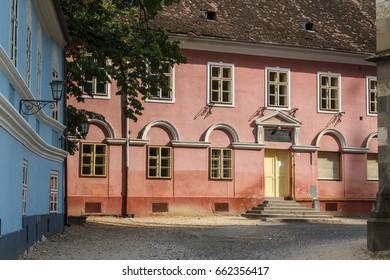 Street of the historic centre, Brasov, Romania