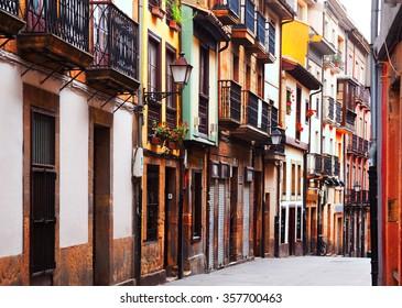 street at historic part of Oviedo. Asturias, Spain