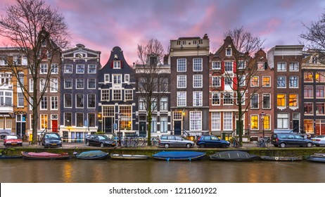 Street with Historical Colorful canal houses on Brouwersgracht in the grachtengordeal the UNESCO World Heritage site of Amsterdam