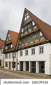 The street with historical half-timbered houses in the old city of Lemgo, Germany