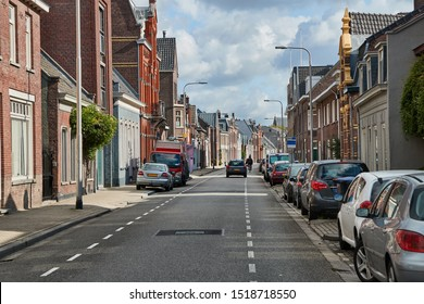 Street with houses in The Netherlands, Tilburg