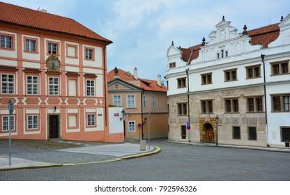 A street in Hradcany district, Prague, Czech Republic