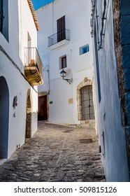 Street in Ibiza old town