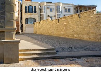 The street in Icerisheher old town in Baku city, Azerbaijan