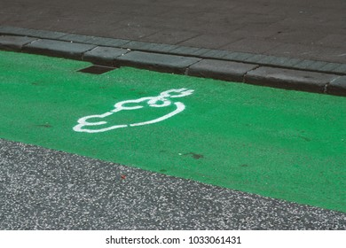 Street icon for electro mobile charging