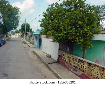 A street ina town in Mexico