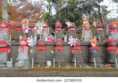 Street Jizo buddha statue Tokyo Japan