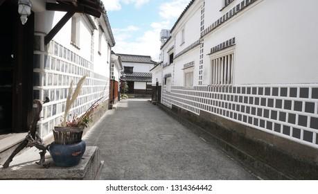 The street at Kurashiki city (Japan)