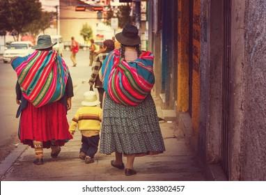Street in La Paz, Bolivia