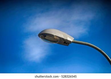 Street lamp up close