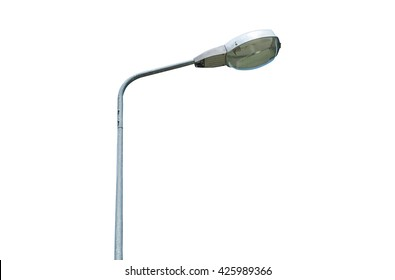 Street lamp isolated on white background.