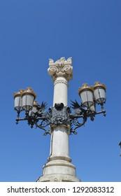 Street lamp of Madrid