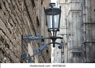 Street lamp in the old town of Barcelona, Spain