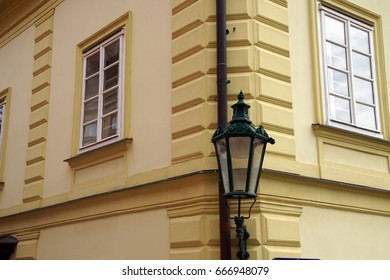 Street lamp on Baroque building, Kutna Hora, Czech Republic
