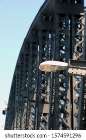 Street lamp on the Harbour Bridge Sydney