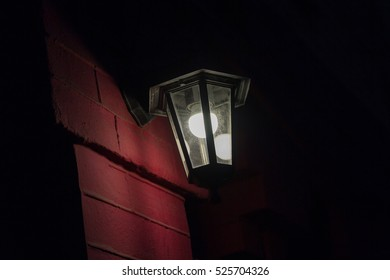 Street lamp in retro style with an electric lamp