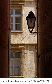 Street lamp in a small street of Lyon city center