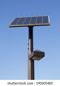 Street lamp with solar panel