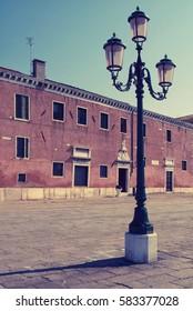 Street lamp in Venice, Italy