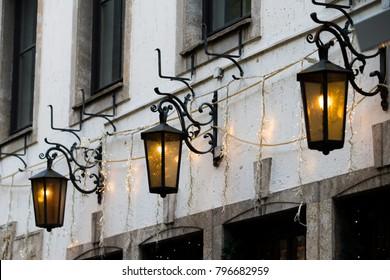 Street lamps. Old street lamp