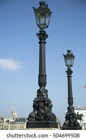 Street lamps in Paris, France