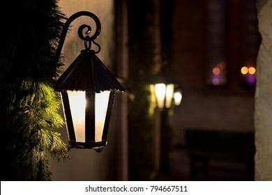 Street lantern at night