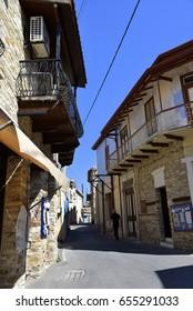street in Lefkara, Larnaca, Cyprus
