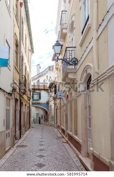 Street in Leiria in Portugal