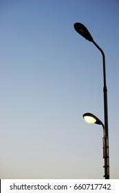 street light beside the road
