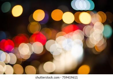 Street light bokeh in  the night