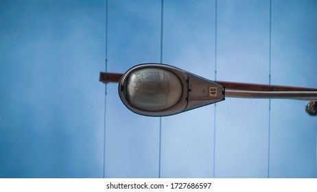 Street Light Lamp Over Downtown Alley
