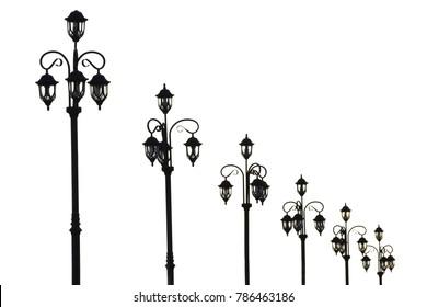 Street light on isolated background