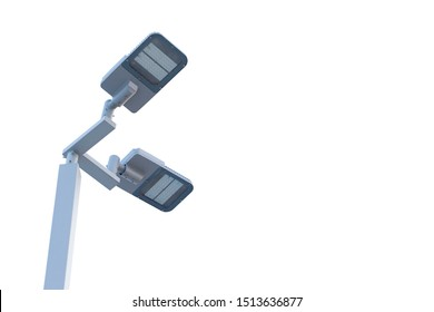 Street light that use solar cell,Solar street light pole under the sky,Led street lights in parks and parking lots Which uses solar energy