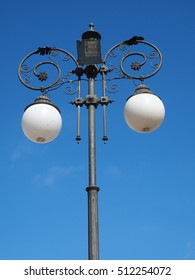street light , vintage with solar