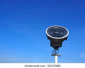 Street light,blue sky background.