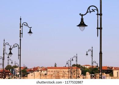 street lighting old town Nessebar Bulgaria