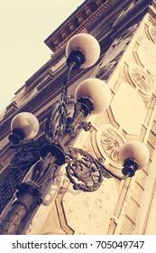 street lights of Bologna. Italy