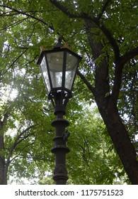 Street lights in the city landscape