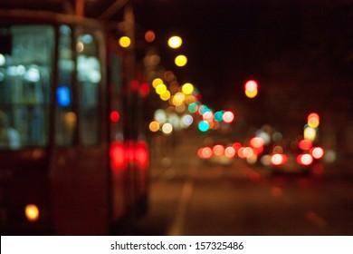 Street lights in the night
