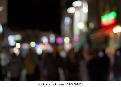Street lights in pedestrian zone