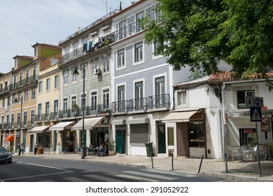 A street in Lisbon, Portugal - May 12, 2015