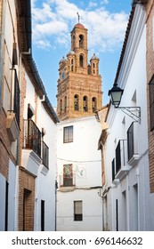 Street of Llerena with Church of Our Lady of Granada.
