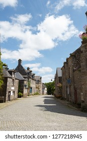 Street of Locronan, a medieval picturesque village in Brittany